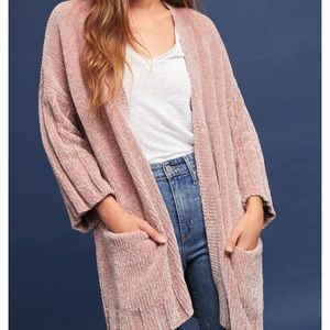Anthropologie Moth Chenille Cardigan